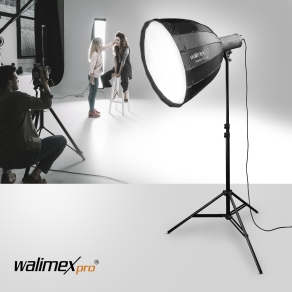 Walimex pro Studio Line Deep Rota Softbox QA90 mit Softboxadapter Hensel EH/Richter