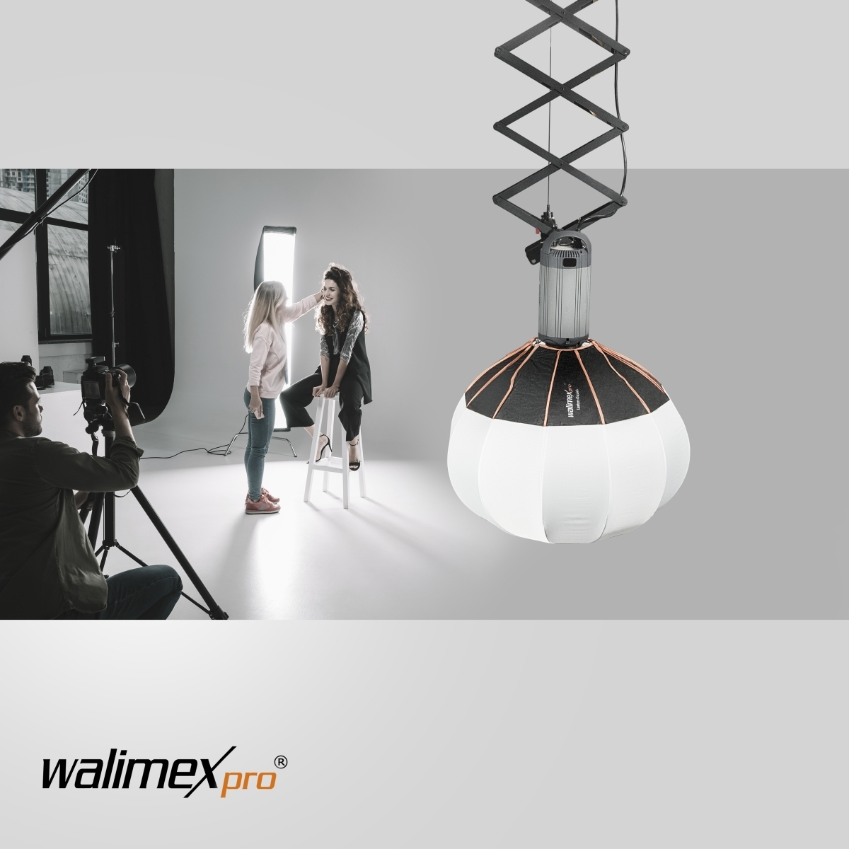 Walimex pro 360° Ambient Light Softbox 80cm mit Softboxadapter Multiblitz P