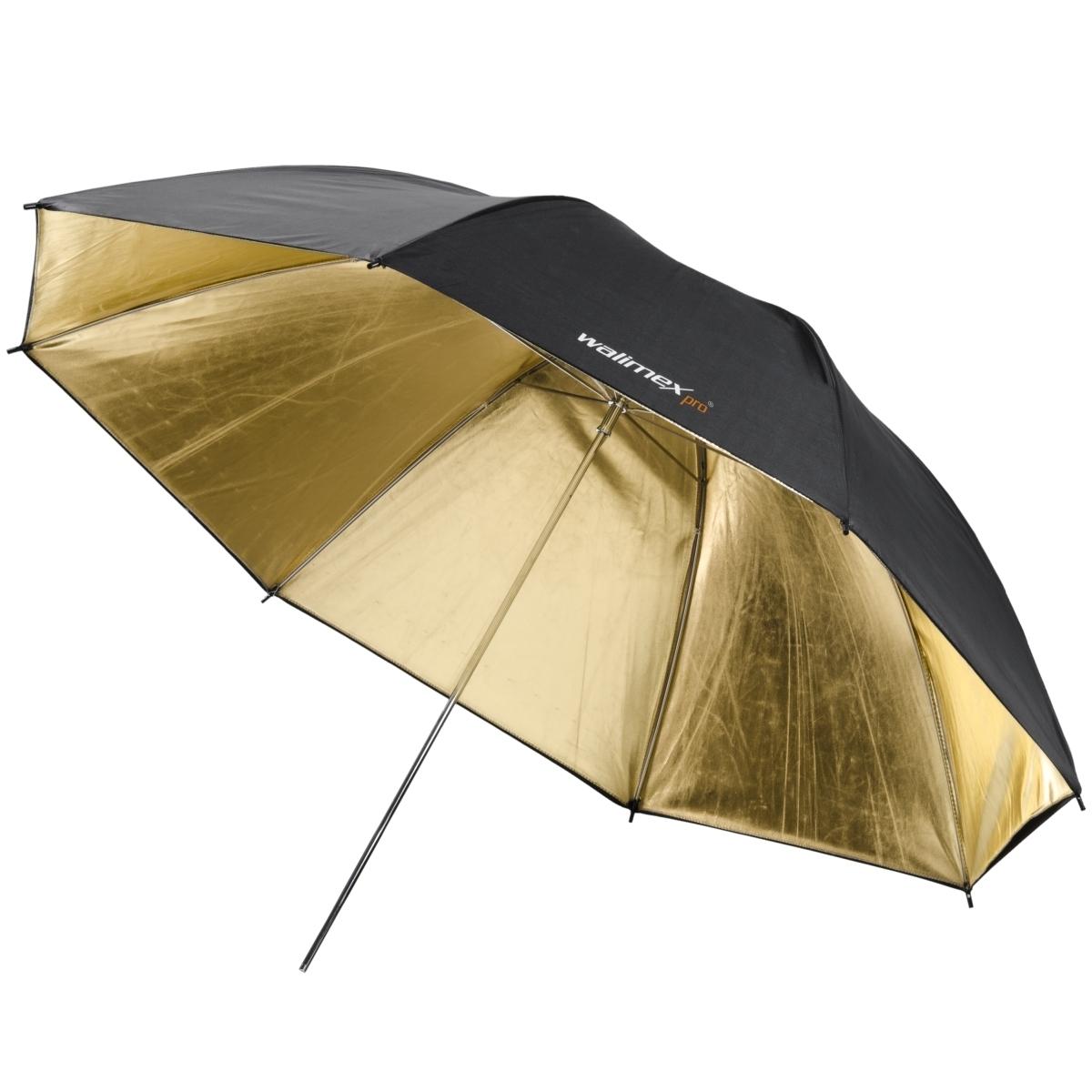 Walimex reflexschirm schwarz gold 2 lagig 109cm walimex walimex - Paraplu balances ...